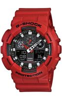 G-shock Mens Analog Digital Red Resin Strap Ga100b4 - Lyst