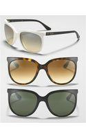 Ray-Ban Oversized Cat Eye Sunglasses - Lyst