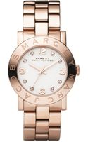 Marc By Marc Jacobs Womens Amy Rose Gold Ion Plated Stainless Steel Bracelet - Lyst