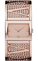 Armani Exchange Womens Rose Gold Ion Plated Stainless Steel Bracelet 19x26mm - Lyst