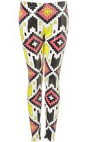 Topshop Aztec Sequin Leggings - Lyst