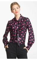 Marc Jacobs Tie Neck Silk Blouse - Lyst