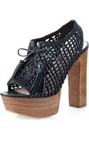 Pencey Alexus Platform Sandal Black - Lyst