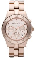 Marc By Marc Jacobs Womens Chronograph Blade Rose Gold Tone Stainless Steel Bracelet - Lyst