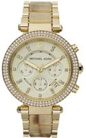 Michael Kors Womens Chronograph Parker Horn Acetate and Gold Tone Stainless Steel Bracelet 39mm - Lyst