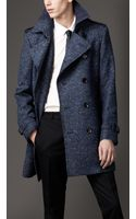 Burberry Midlength Virgin Wool Blend Trench Coat - Lyst