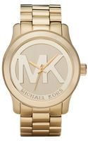 Michael Kors Womens Gold Plated Stainless Steel Bracelet Watch  - Lyst