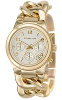 Michael Kors Womens Chronograph Runway Twist Goldtone Ionplated Stainless Steel Bracelet 38mm - Lyst