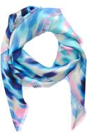 David Szeto Blurred Cherry Blossom Square Scarf - Lyst