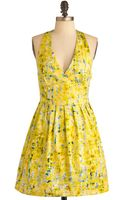 ModCloth Process Of Lemonation Dress - Lyst