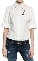 DSquared2 Lipstick Cotton Poplin Shirt - Lyst