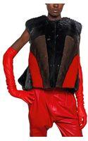 Givenchy Block Color Mink Beaver Fur Vest - Lyst