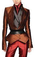 Haider Ackermann Wool Silk Shantung Jacket - Lyst