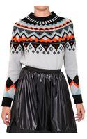 Proenza Schouler Wool Cashmere Intarsia Knit Sweater - Lyst