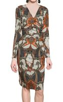 Etro Printed Viscose Jersey Dress - Lyst