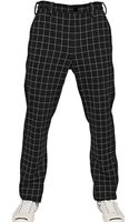Miharayasuhiro Cotton Wool Checked Knit Trousers - Lyst