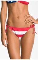 Ralph Lauren Stripe Side Tie Bikini Bottoms - Lyst