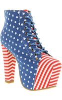 Jeffrey Campbell Lita Platform Ankle Boots - Lyst