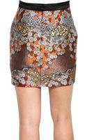 Proenza Schouler Silk Brocade Skirt - Lyst