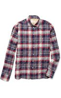 Rag & Bone Plaid Cotton Blend Shirt - Lyst