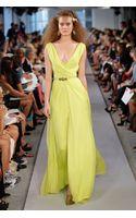 Oscar de la Renta Silk Chiffon Gown - Lyst