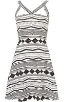 Topshop Aztec Stripe Flippy Hem Tunic - Lyst