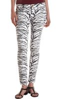 Current/Elliott Ankle Skinny Vintage Zebra - Lyst