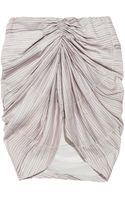 See By Chloé Ruched Printed Crepe De Chine Skirt - Lyst