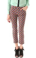 10 Crosby Derek Lam Lattice Print Cropped Pants - Lyst