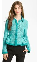 Nanette Lepore Summer Flame Lace Jacket - Lyst