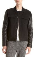Alexander Wang Denim Bomber Jacket - Lyst