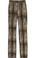 Giambattista Valli Animalprint Wool and Silkblend Pants - Lyst