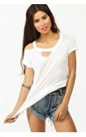 Nasty Gal Slashed Tee - Lyst