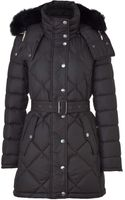 Burberry Brit Black Belted Down Jacket - Lyst