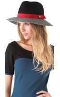 Juicy Couture Color Blocked Floppy Fedora - Lyst
