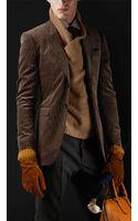 Burberry Prorsum Skinny Fit Corduroy Jacket - Lyst