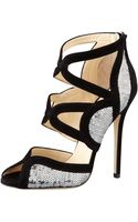Jimmy Choo Tempest Sequined Embellished Heels - Lyst