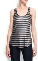 Mango Striped Sequins Tanktop - Lyst