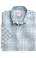 Brooks Brothers Noniron Regular Fit Shortsleeve Stripe with Deco Sport Shirt - Lyst