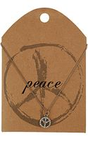 Topshop Peace Ditsy Necklace - Lyst