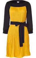 Hoss Intropia Sunflower and Black Pleated Dress - Lyst