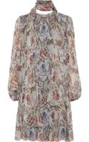 Dolce & Gabbana Floral print Silk georgette Dress - Lyst