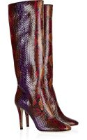 Jimmy Choo Tosca Python Knee Boots - Lyst
