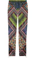 Matthew Williamson Printed Stretch Satin Skinny Pants - Lyst