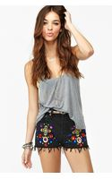 Nasty Gal Jeweled Cutoff Shorts - Lyst