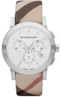 Burberry Womens Swiss Chronograph Nova Check Fabric Strap 42mm - Lyst