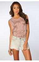 Free People The Denim Cut Offs with Pink Fray in Warner Blue - Lyst