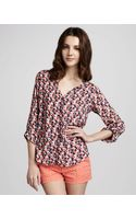 Splendid Floralprint Blouse - Lyst