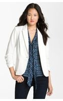 Olivia Moon Ruched Sleeve Jacket - Lyst