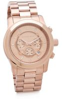 Michael Kors Oversized Rose Gold Watch - Lyst